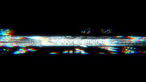 Simple Noise/Glitch Tech Logo After Effectsテンプレート