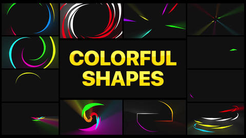 Colorful Shapes Apple Motion Template