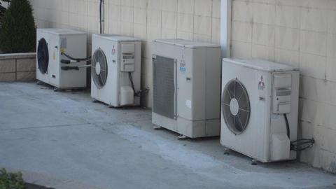 Air Conditioner Outdoor Unit Split AC Footage