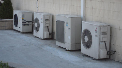 Air Conditioner Outdoor Unit Split AC Stock Video Footage