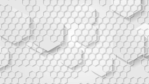 White grey geometric video animation with hexagons Animation