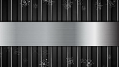 Christmas metallic animated background with snowflakes Animation