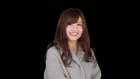 Young Japanese woman wearing coat in winter 2 Live Action