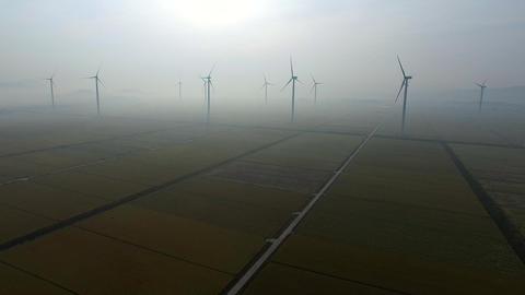 Wind Generator group Footage