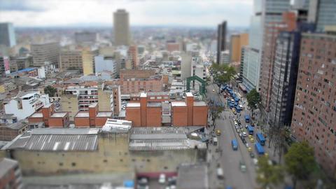 Tilt Shift Bogota Cityscape Footage