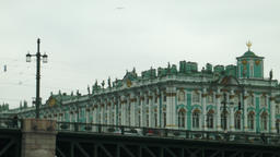 Winter Palace Hermitage Museum in St. Petersburg Russia Footage