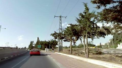 Driving in Jerusalem, Israel Footage