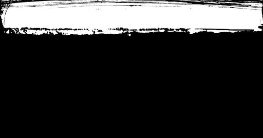 abstract paint brush stroke black and white transition background, animation of paint splash with Live Action