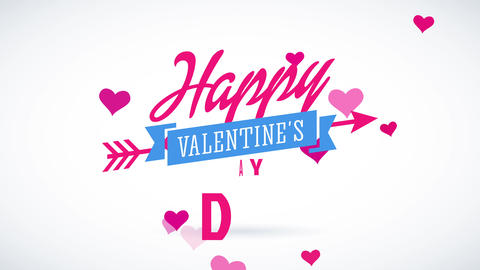 cheerful valentines day script putting one communicate above the different changing colors and in Animation