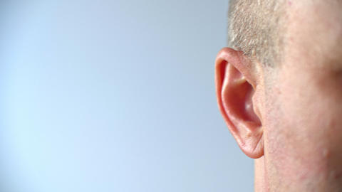 Close up view of human ear Live Action