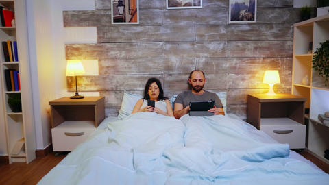Zoom in shot of young wife falling asleep Live Action