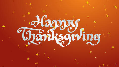 laughing thanksgiving holiday conceptual art lettering written with white 3d handwriting italic Animation