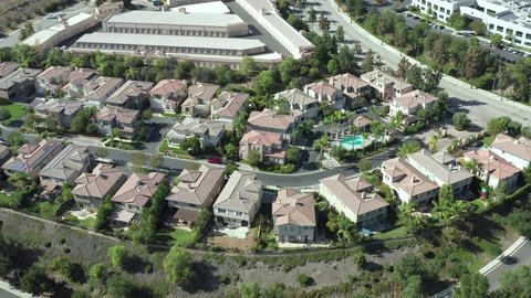 Aerial of Luxury Mansion Calabasas, California, Homes of Rich and Famous People Live Action