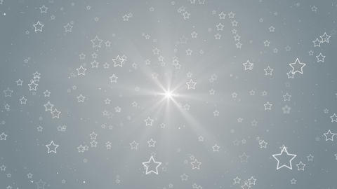 Particles star white business clean bright glitter dust abstract background loop Animation
