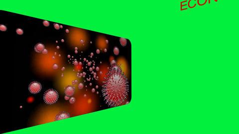 682 4k 3d animated result of coronavirus in economics Animation