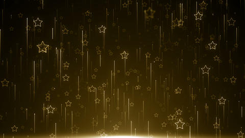 Particles star gold glitter awards dust abstract background loop Animation