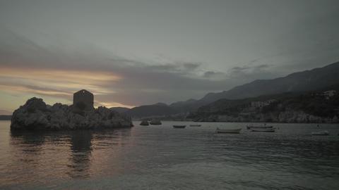 The landmark of Milocer. Montenegro. The Balkans Live Action