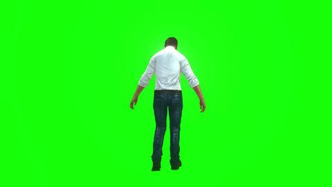 690 4k 3d animated avatar man walking to battle with virus Animation
