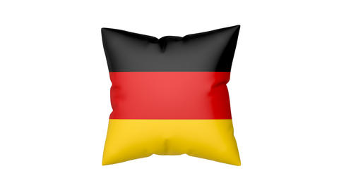 Pillow with the flag of Germany Animation