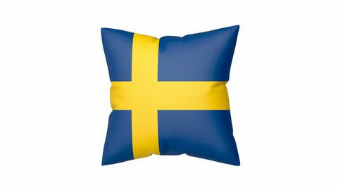 Pillow with the flag of Sweden Animation