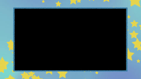 Star background and frame Videos animados