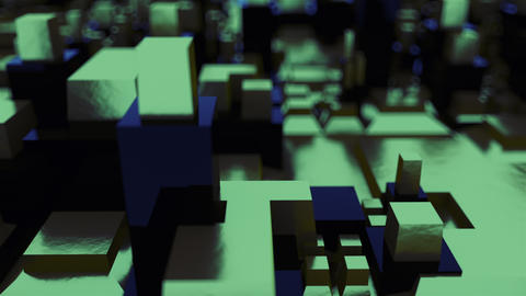 d rendering isometric structure with blur. The concept of abstract chip or the Live Action