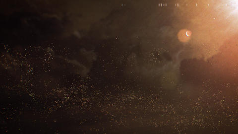 Particle Sand Storm Background Animation