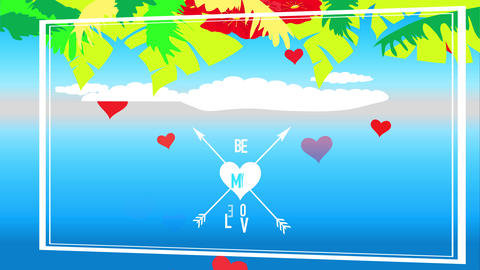 tropic valentines day script exist my affection written between cupid arrows junction a heart under Animation