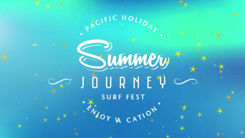 pacific holiday enjoy vacation text surrounding summertime journey sea fest written with aged Animation