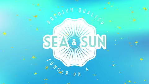 sea and sun premium value summer paradise written inner and out shell graphic on soft multicolor Animation