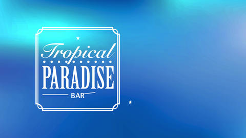 text latitude paradise bar written with fashionable or cursive offset separated by a dotted line in Animation