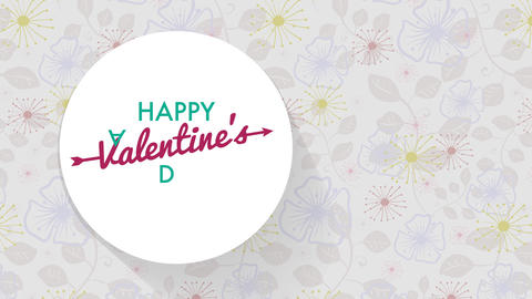 card covering for valentines day with text written in affectionate and fashionable typography Animation