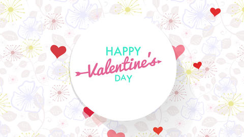 cardboard cover for valentines day with text written in affectionate and fashionable typography Animation