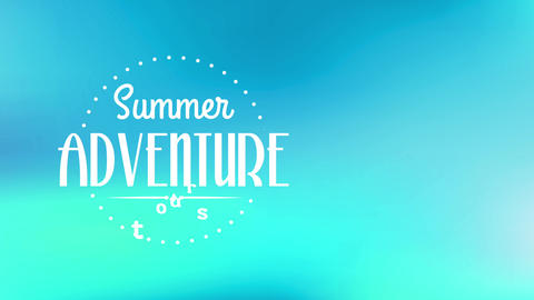 summertime adventure trip written with modern and handwriting typography internal circle crafted Animation