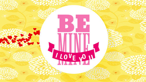 be pit i love yourself text for valentines written on floating white disk forming shadow on gold Animation