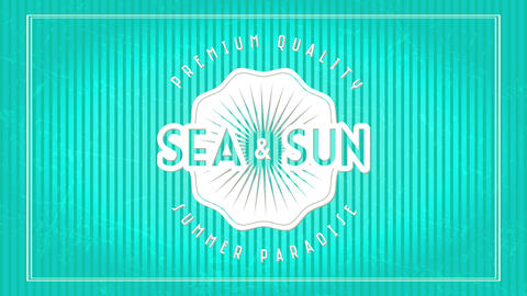 sea and summer written inside and out elegant rounded graphic with text premium quality summer Animation