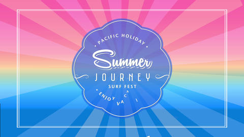 summer journey surf fest invitation with text pacific holiday enjoy vacation written inside Animation