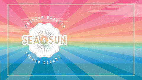 visitor corporation holiday offer with text premium quality sea and sun summer eden written on Animation