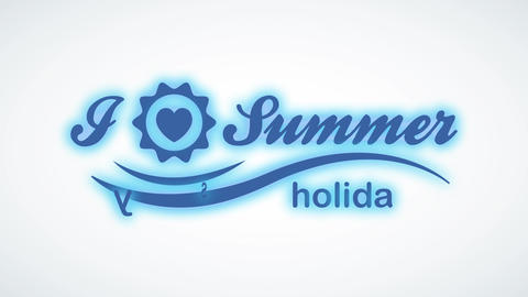 summer leisure written with classic offset and a miniature heart indoor a frame replacement the Animation
