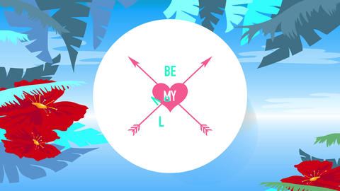 be my love written in the middle of two arrows crossed inside small heart containing one word over Animation