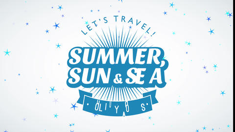 lets tour holiday excursion summer sun and sea written as integrated mark to advertise cruise sales Animation