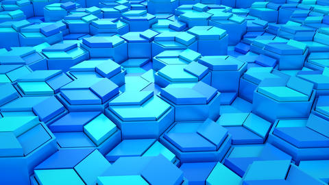 Background of Geometric Shapes Videos animados