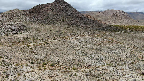 Aerial view of Joshua Tree National Park. USA Live Action