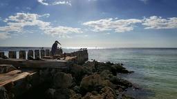 Beach Jetty 001 (2160p 23 976) Footage