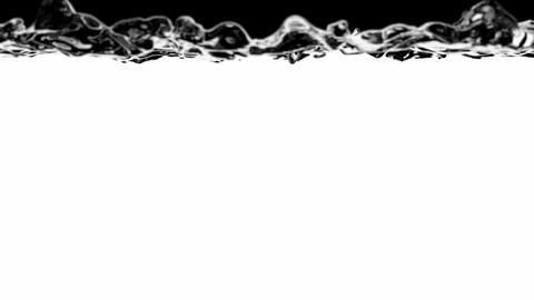 Water is filling the screen slow motion 60 fps 3D animation with alpha mask ( sh Animation