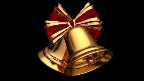 Christmas bells UHD 3D seamless animation with alpha mask Animation