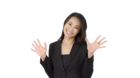 Japanese business woman happy 4 Live Action