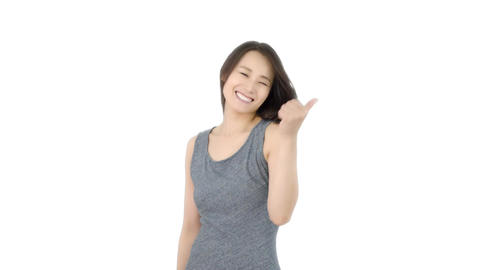 Japanese woman ok sign Bild