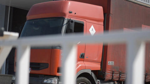 Truck Driving Out Loaded Footage