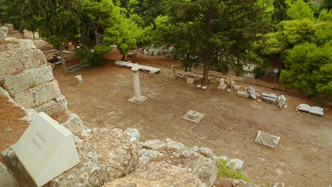 Peripatos alley around Acropolis, sightseeing tour to Greek place of interest Live Action